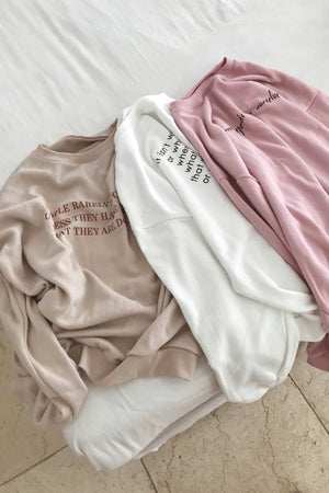 message sweatshirt