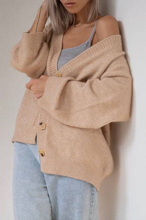 〈再入荷〉soft knit cardigan - beige