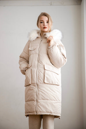 long down coat ( ivory )