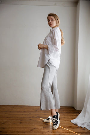 center slit pants (2 colour)