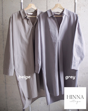 〈再入荷〉shirt dress (2 colour)