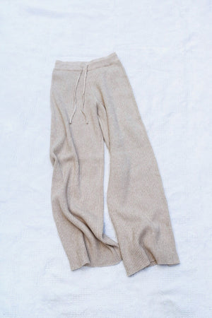 〈再入荷〉knit wide pants - ivory