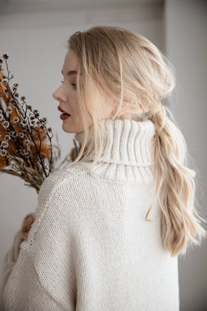 high neck long knit (ivory)