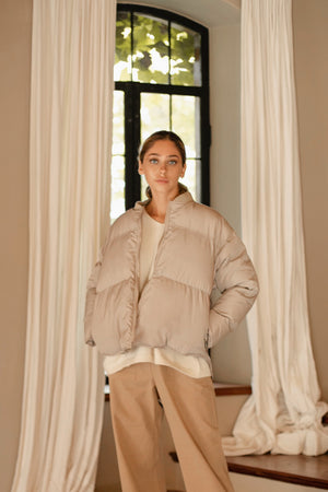 〈再入荷〉eco down jacket (beige)