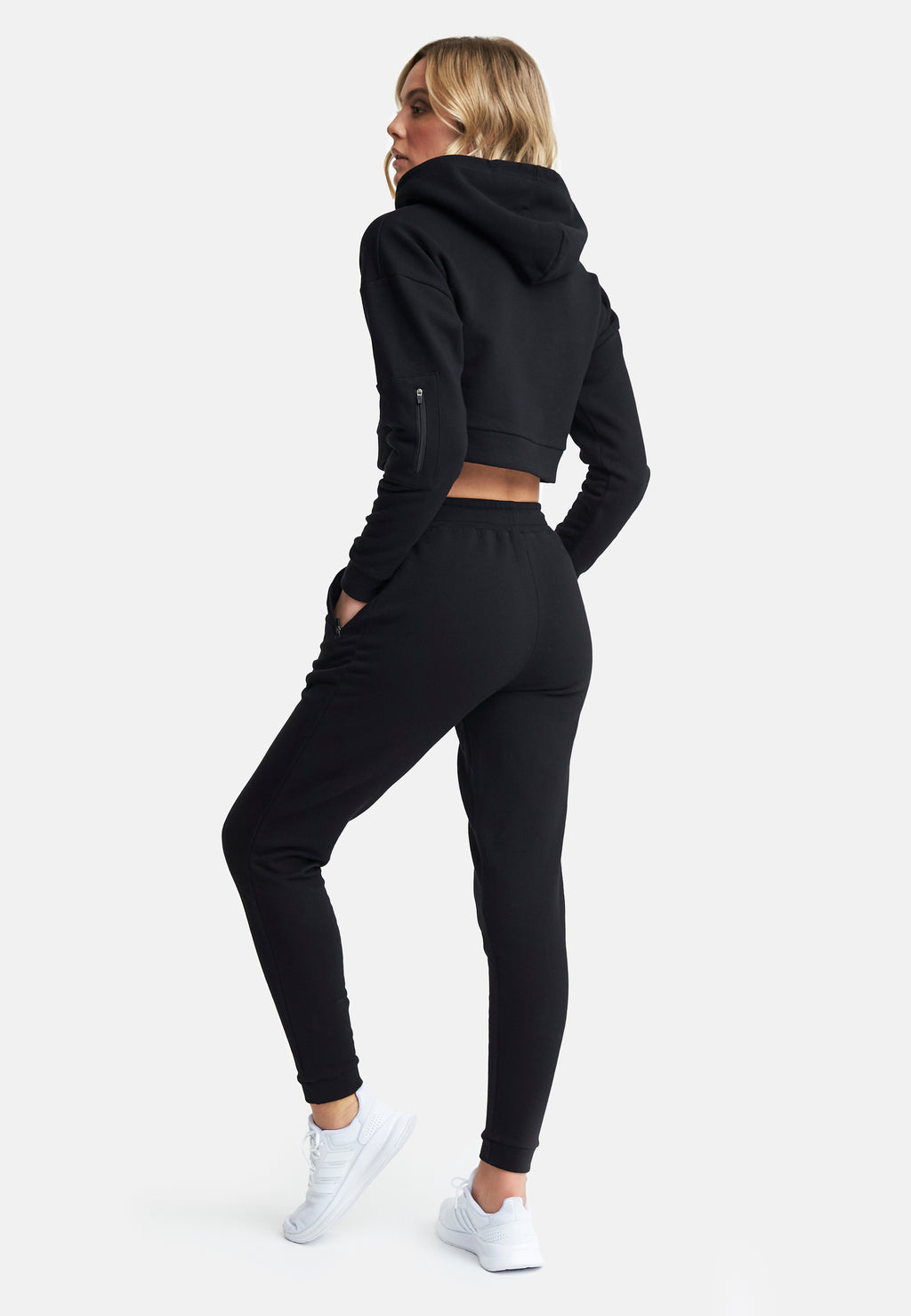 High Waisted Joggers Black