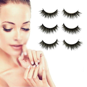Natural Eye Lash Extension Pack of 3