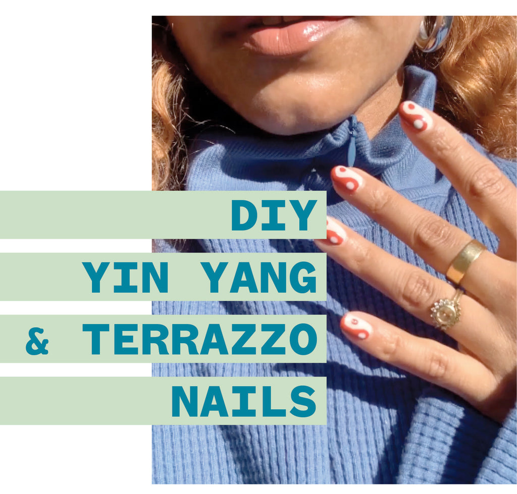 DIY BABY! Yin yang and terrazzo nails with @evemeetswest