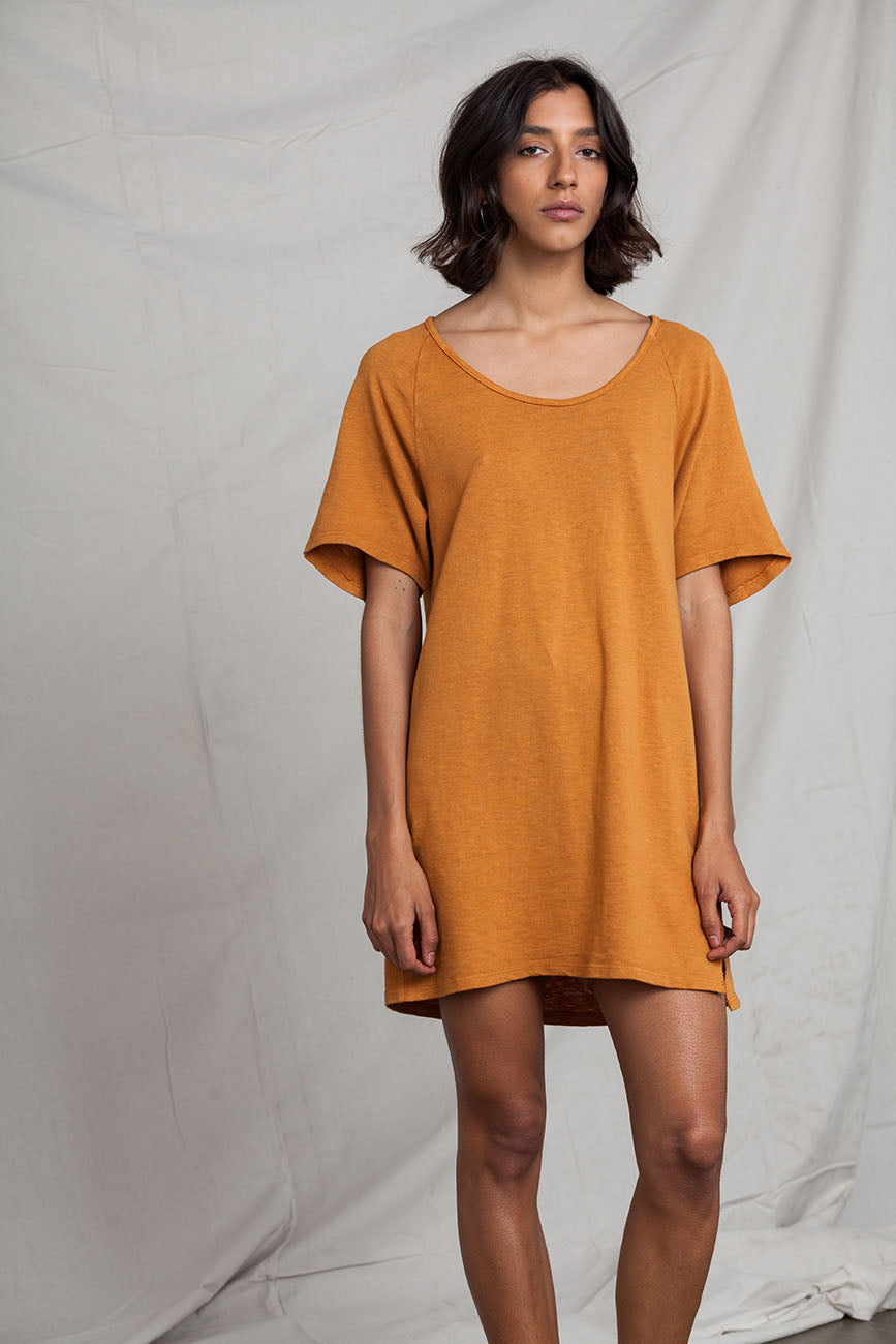 Oversized Raglan Recycled Cotton Dress