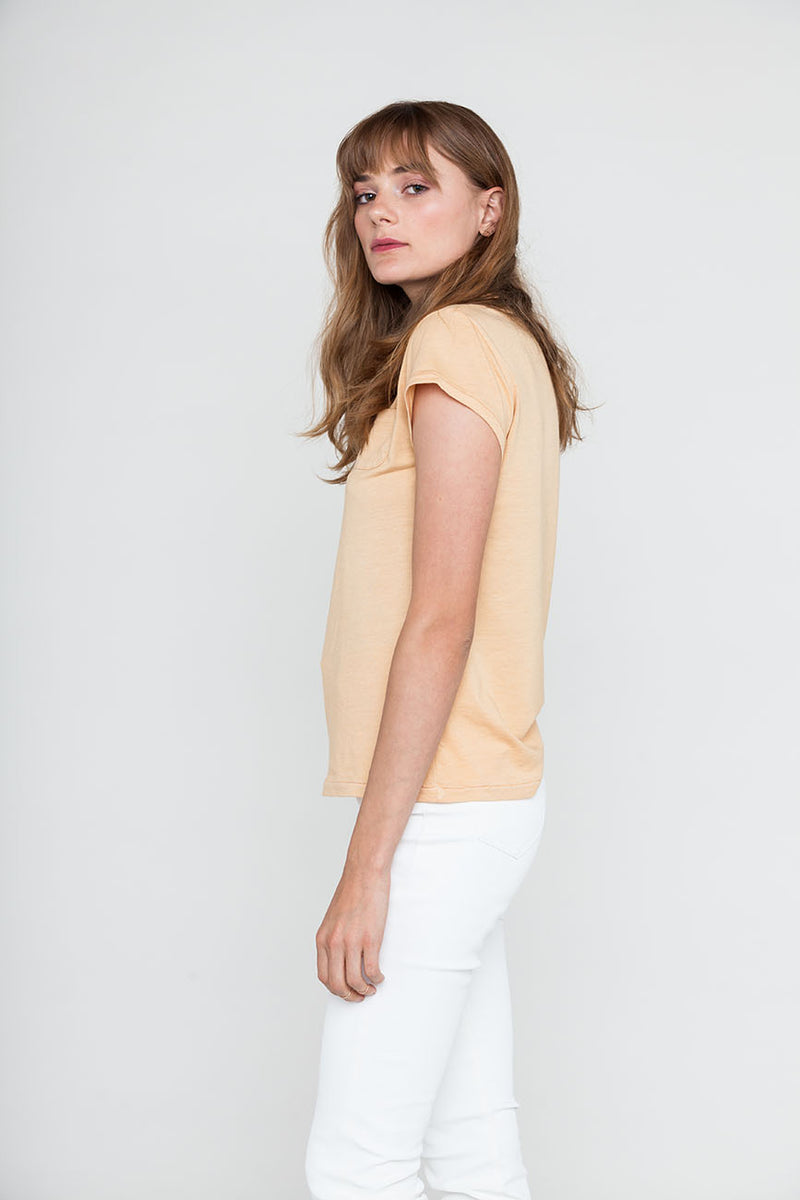 Melon Relaxed Hemp Tee w/ Pocket - Back Beat Rags