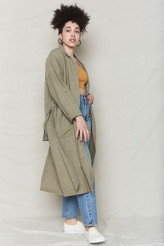 Ochre Hemp Sweater Robe
