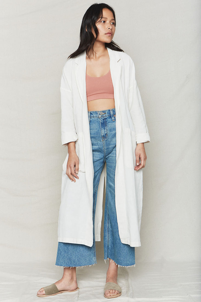 Plant Dyed Linen Easy Robe