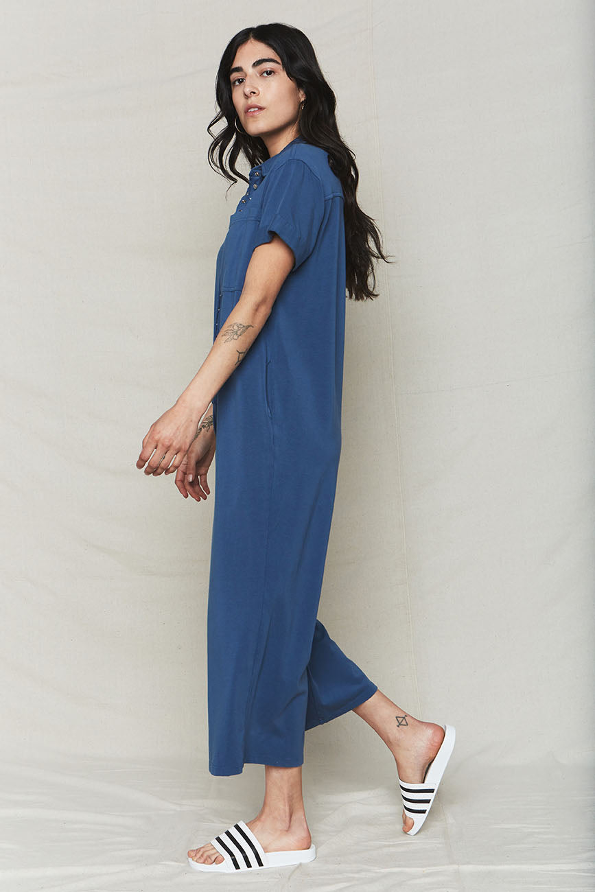 Ocean Organic Cotton Oversized Jumpsuit