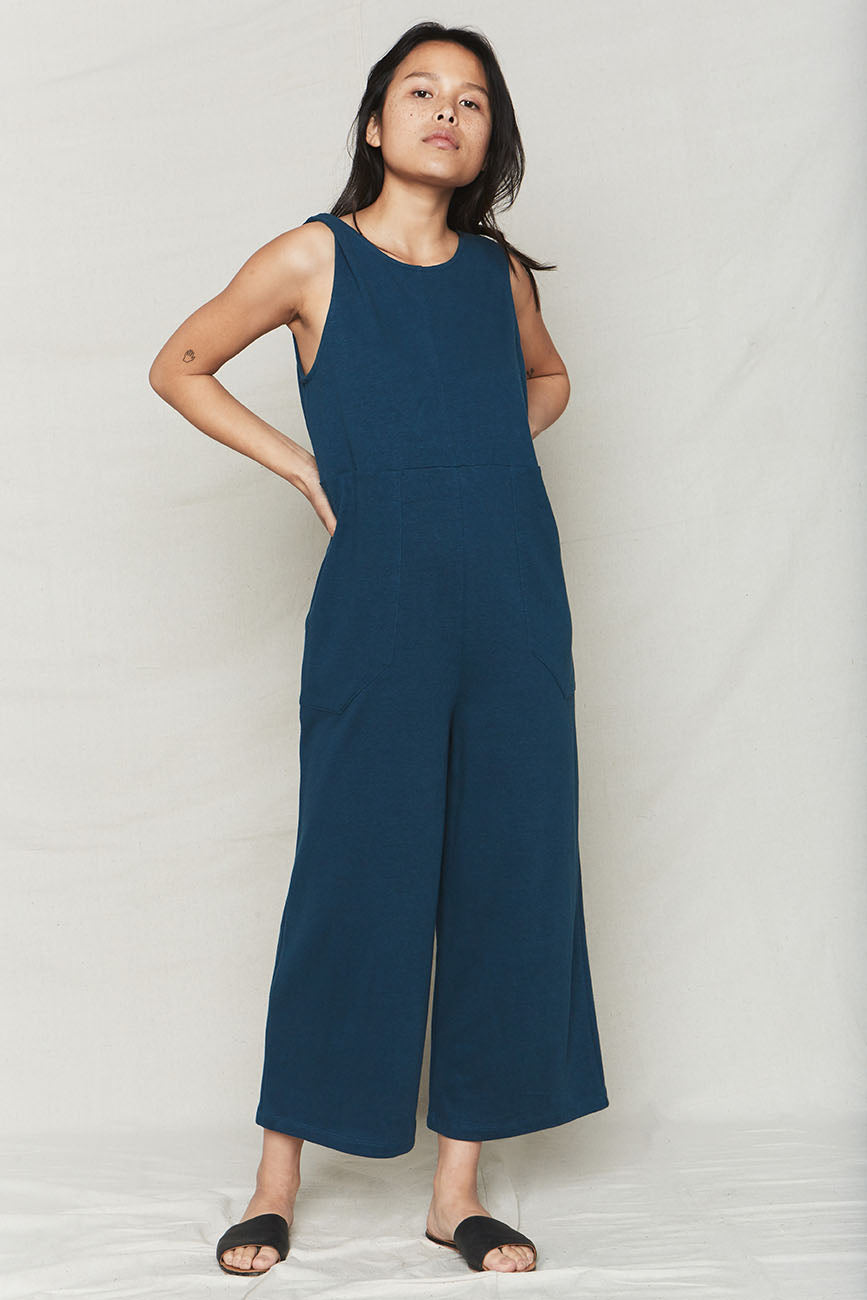 Ocean Hemp Patch Reversible Jumpsuit