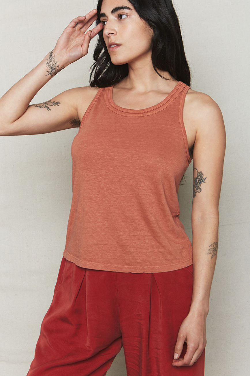 Sienna Hemp Double Band Tank