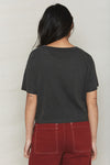 Vintage Black Hemp Inside Out Crop Tee