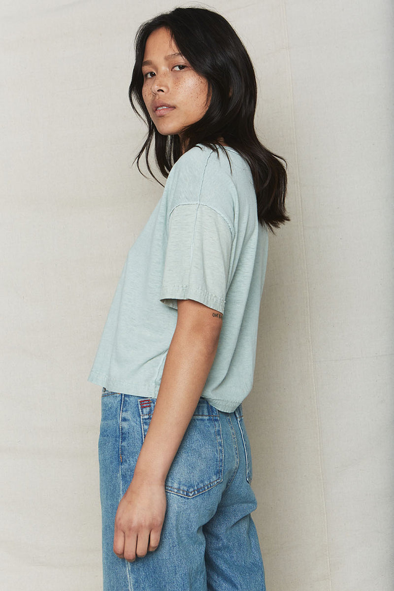 Hemp Inside Out Crop Tee