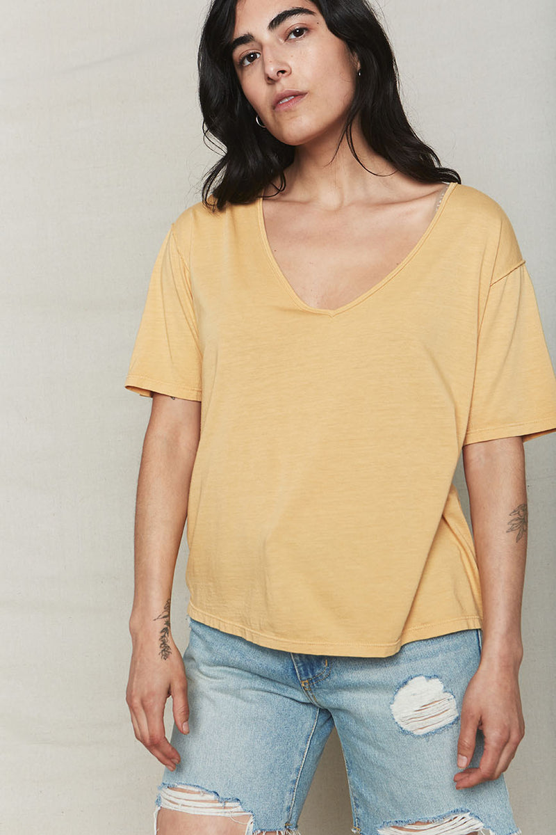Golden Hemp V-Neck Tee