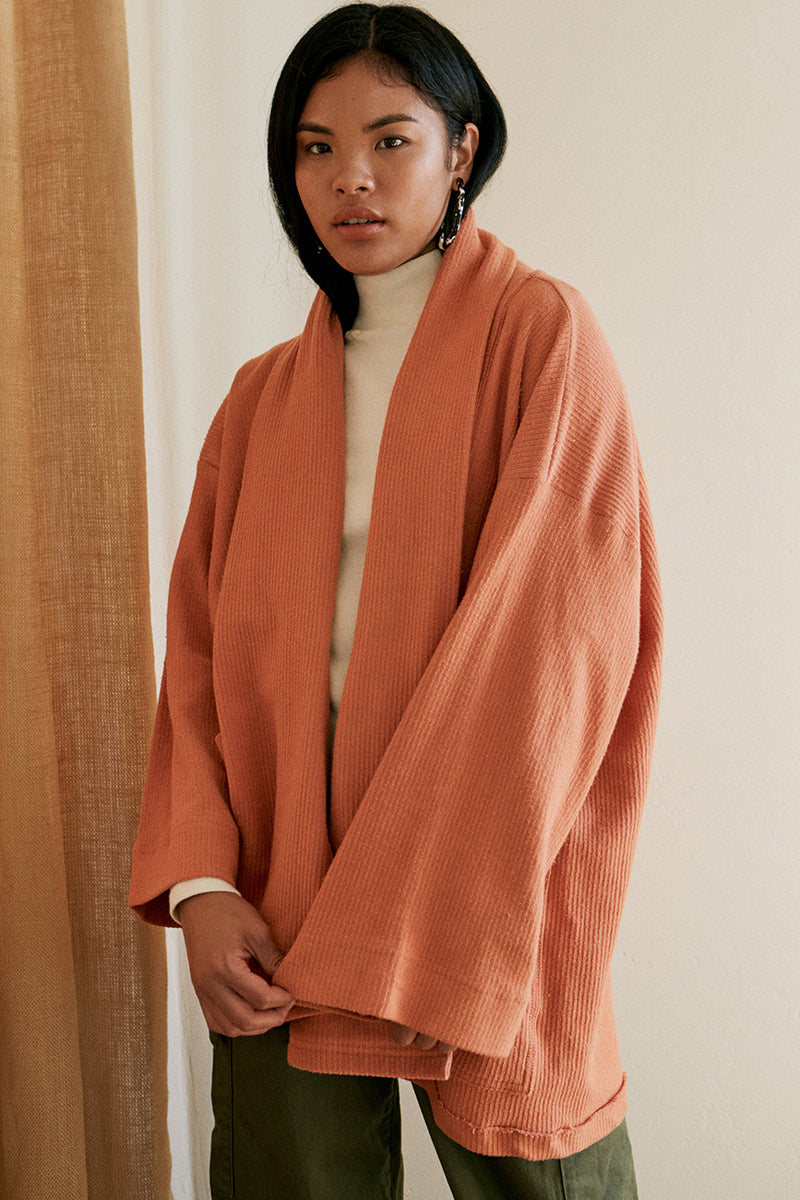 Organic Cotton Abbot Corduroy Knit Robe
