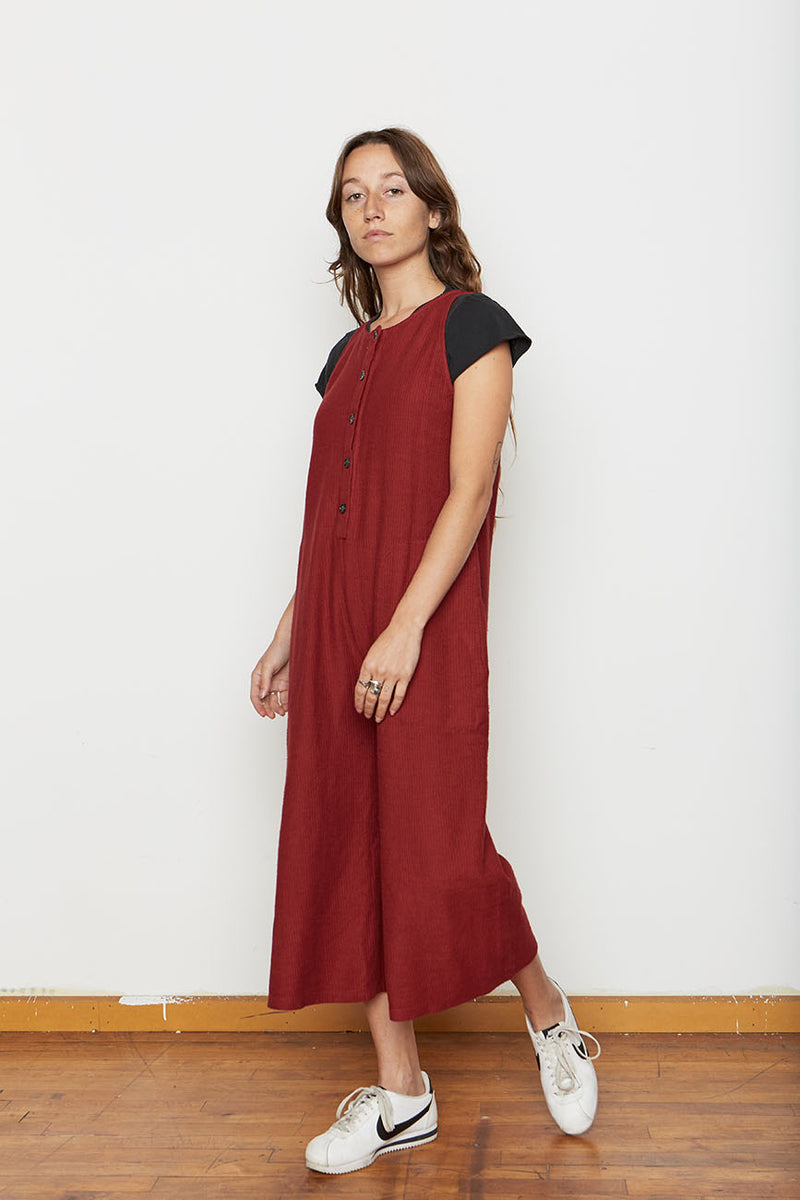 Organic Cotton Lounge Corduroy Knit Jumpsuit