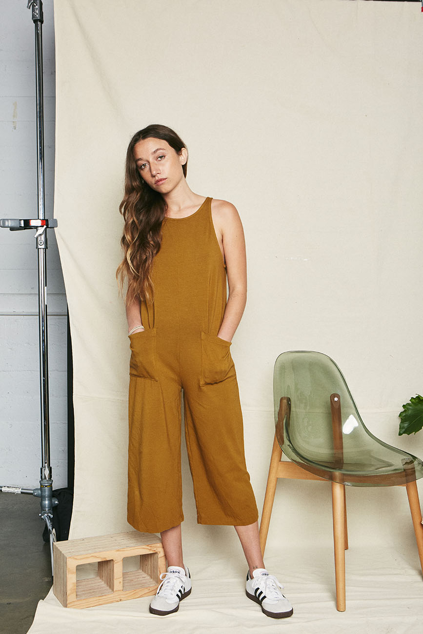 Moss Organic Cotton Everyday Jumpsuit - Back Beat Rags