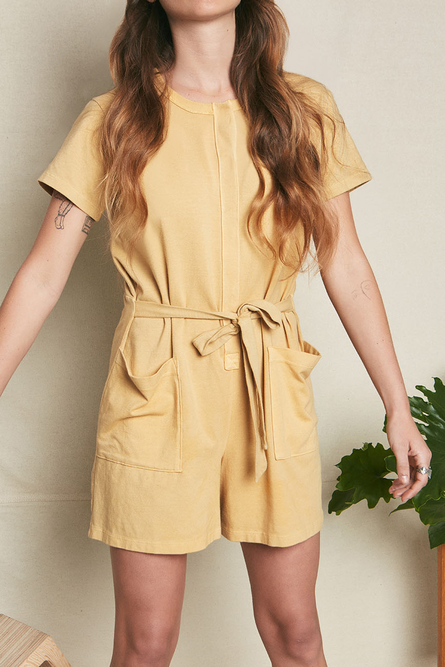 yellow organic cotton romper 6