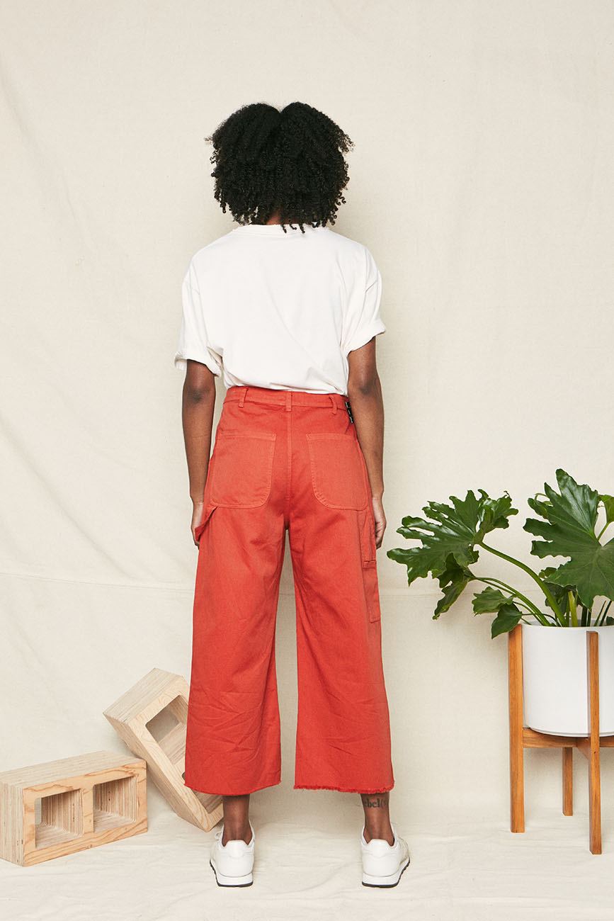 organic cotton pants red 2