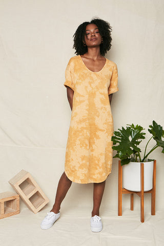 FINAL SALE- Olive Cami Midi Recycled Cotton Dress