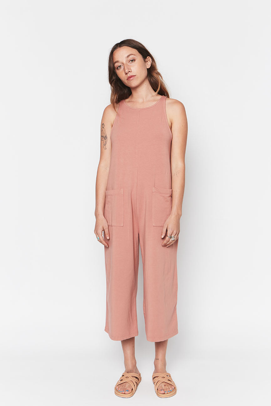 Pink Organic Cotton Everyday Jumpsuit 4