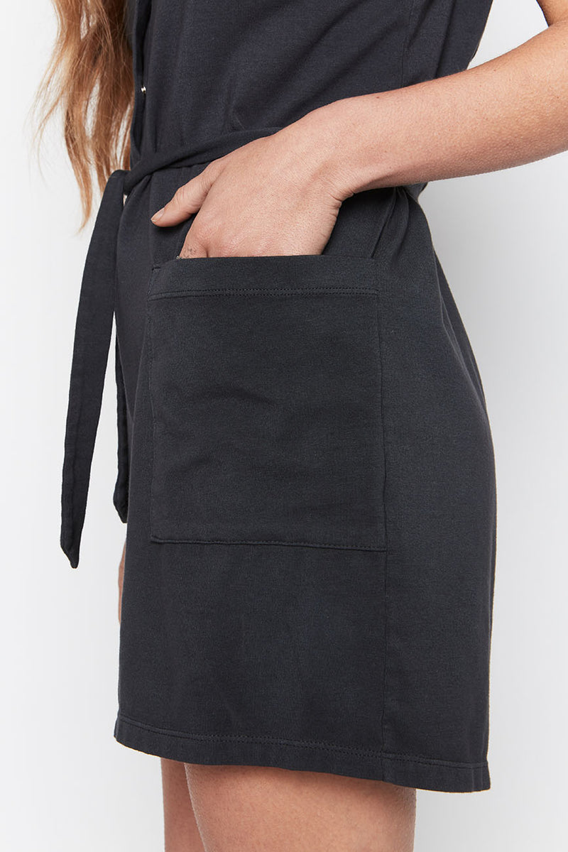 Black Organic Cotton Romper - Back Beat Rags