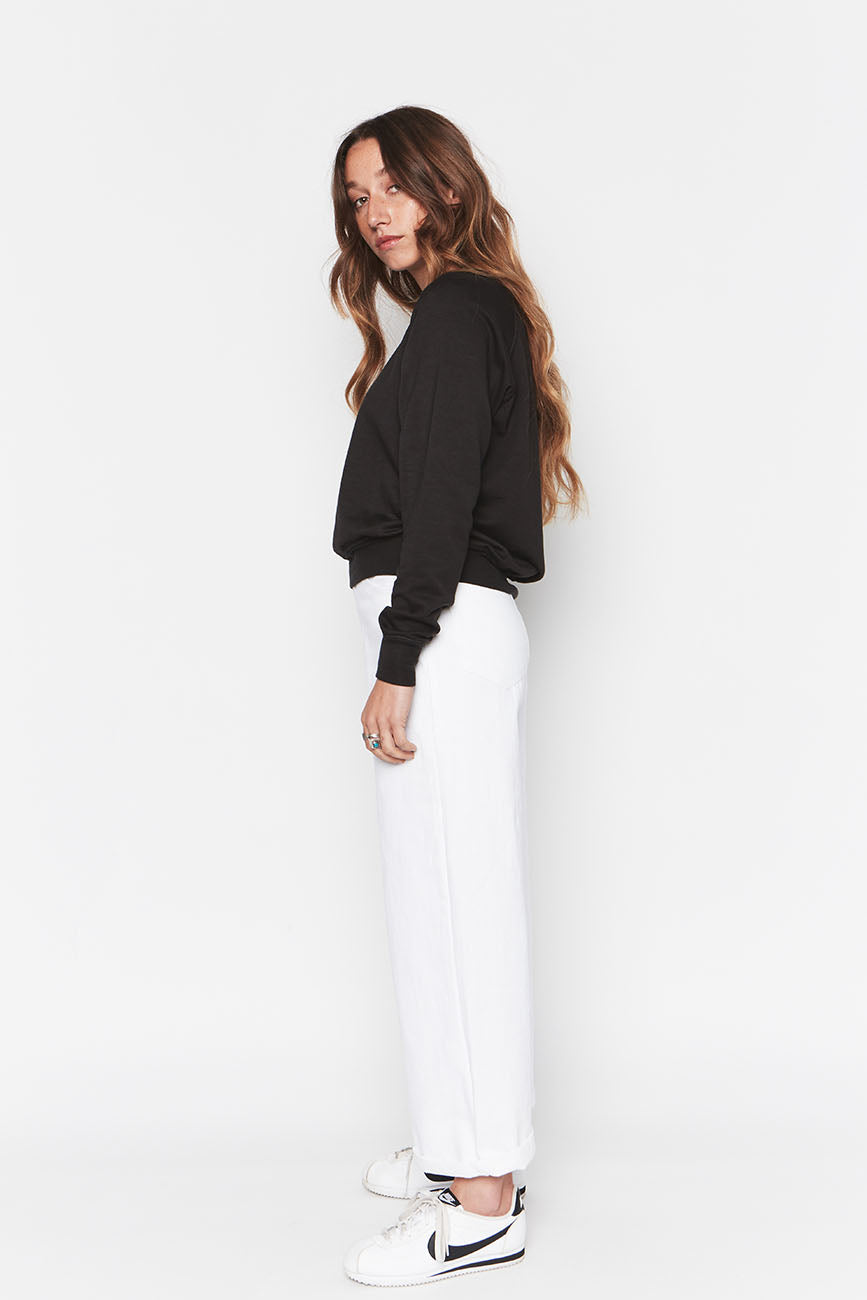 Tencel Cropped Sweatshirt 3