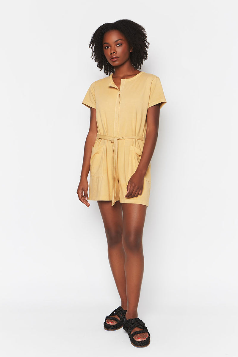 yellow organic cotton romper 3