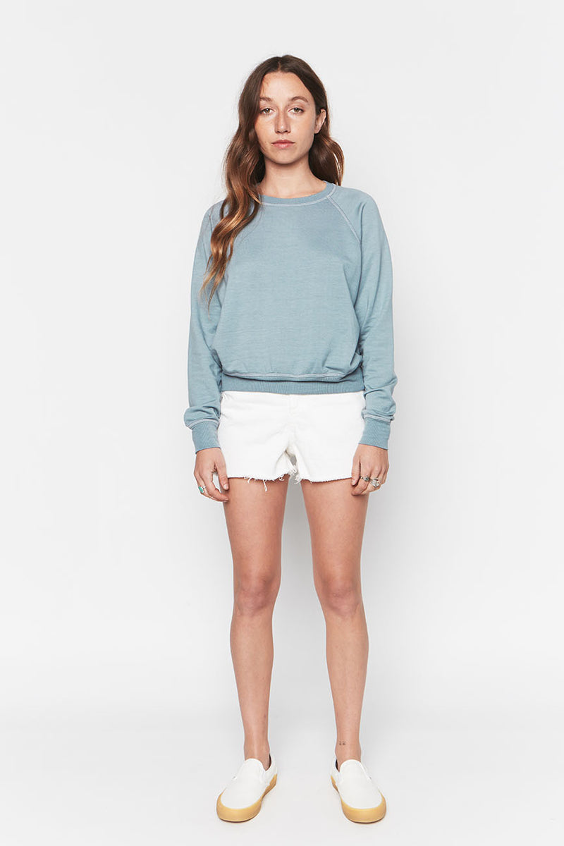 Tencel Cropped Sweatshirt Sky 3