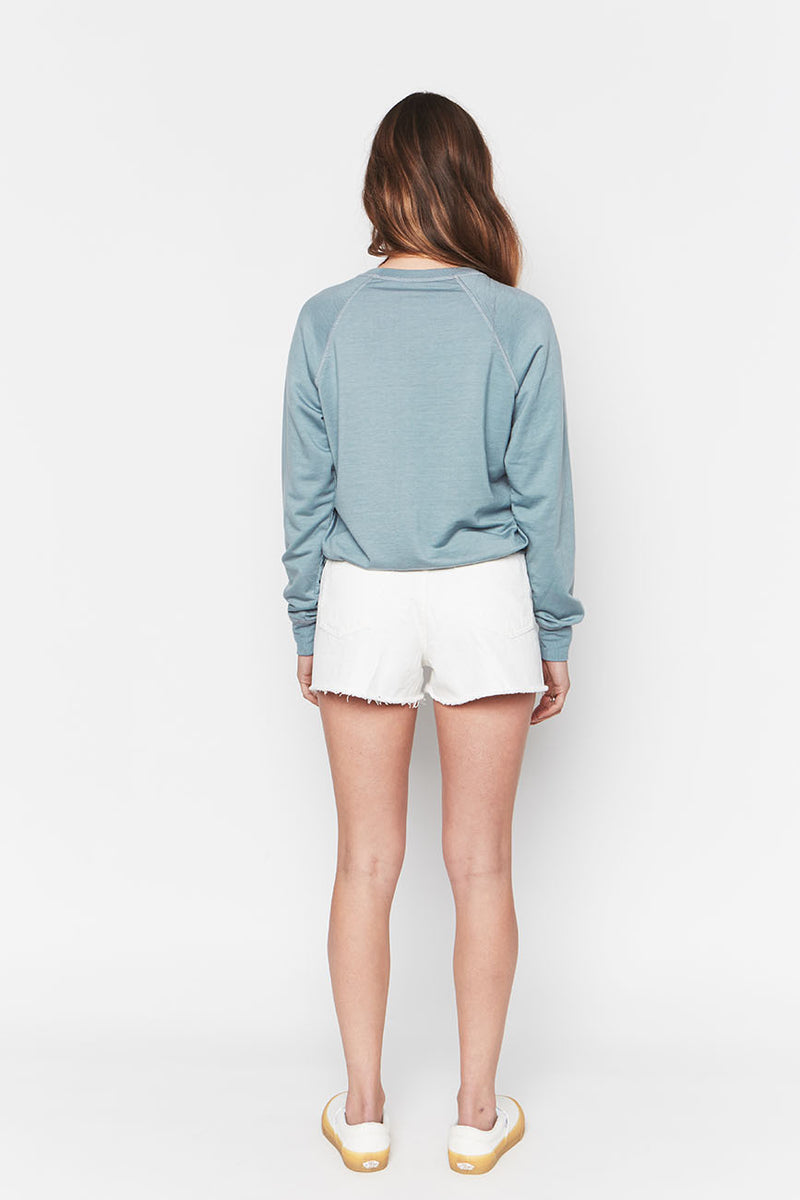 Tencel Cropped Sweatshirt Sky 5
