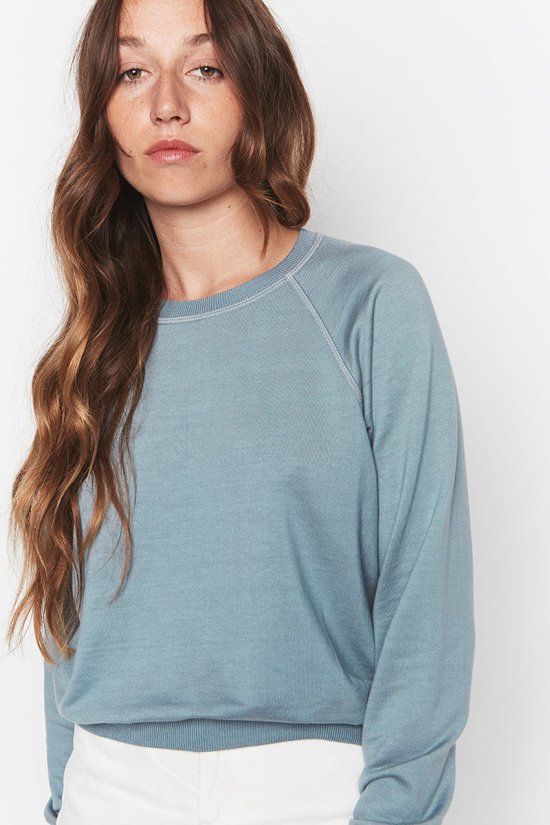 Tencel Cropped Sweatshirt Sky 4
