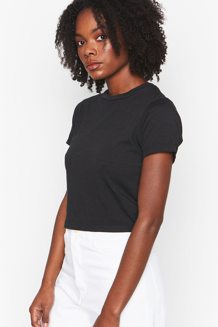 Black Hemp Crop Tee 2