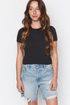Black Hemp Vintage Crop Tee - Back Beat Rags