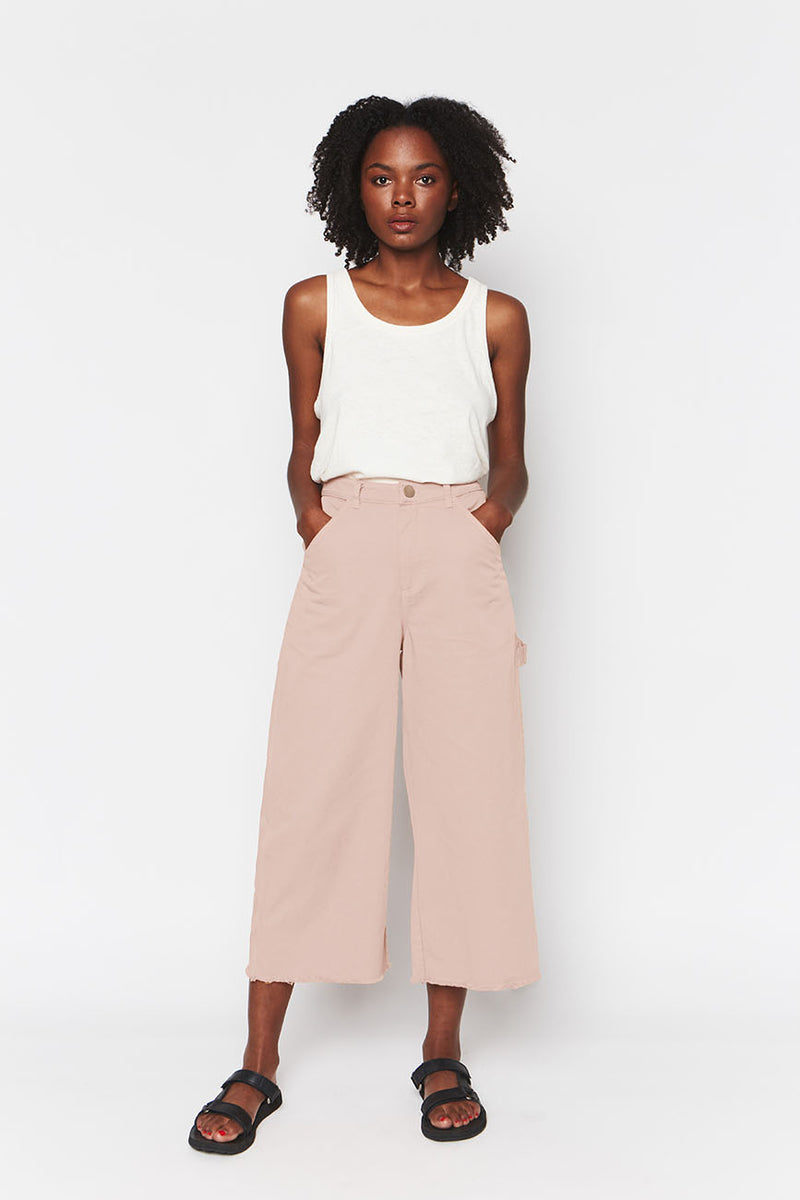 Dusty Pink Organic Cotton Painter Pants