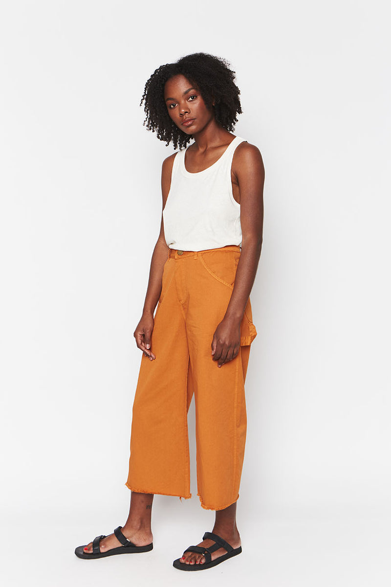Organic Cotton Pants Ochre 4