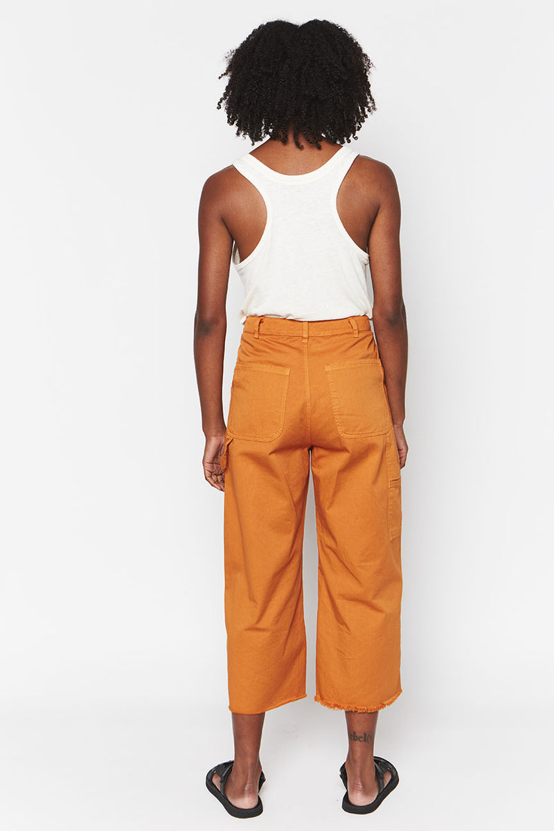 Organic Cotton Pants Ochre 3