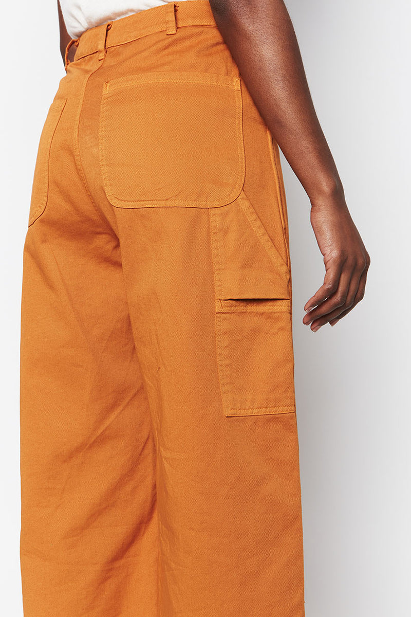 Organic Cotton Pants Ochre 2