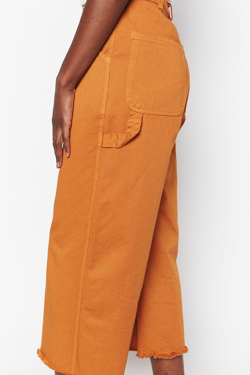 Organic Cotton Pants Ochre 1
