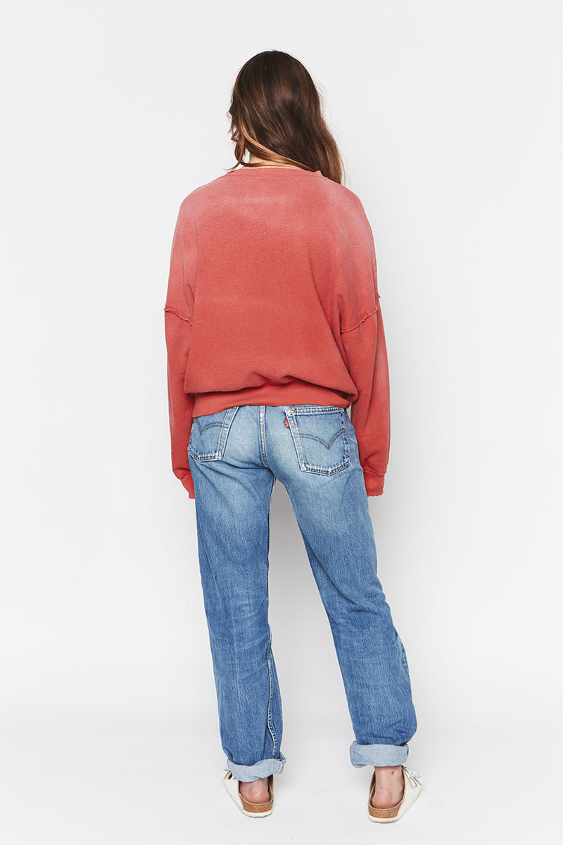 Hemp Sweatshirt Red 1