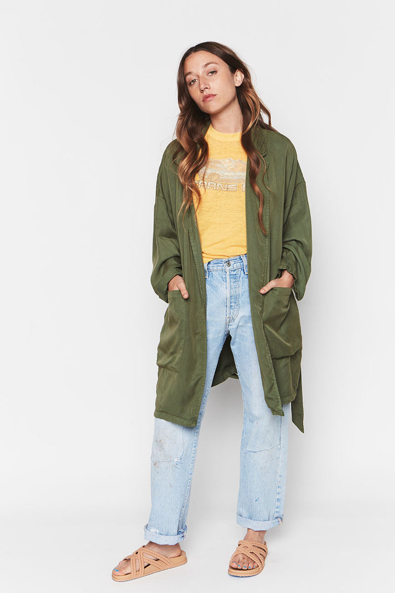 LEAF TENCEL EASY JACKET 1