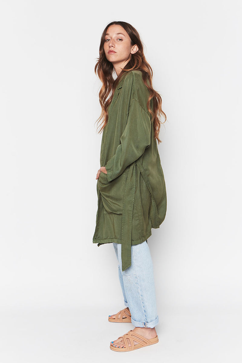 LEAF TENCEL EASY JACKET 4