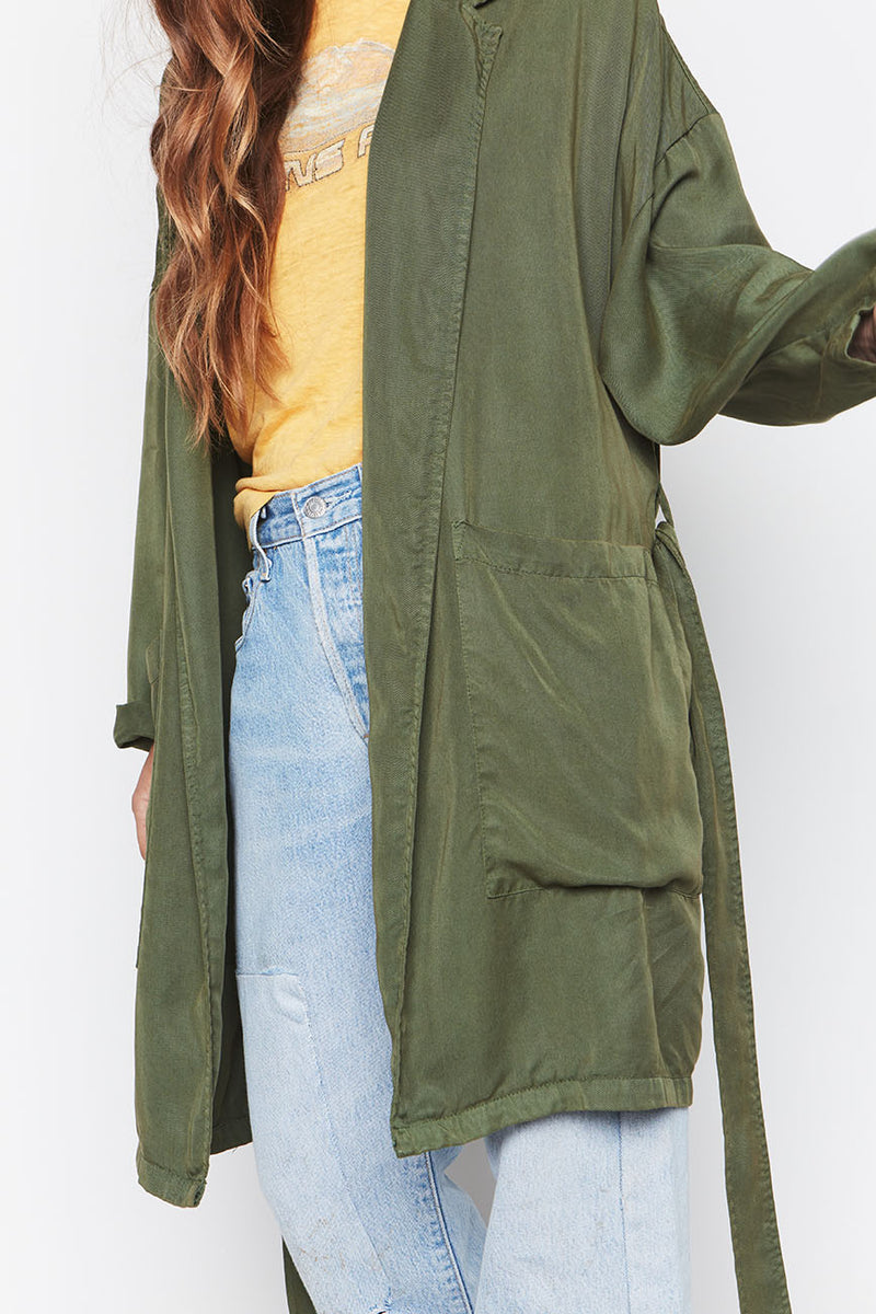 LEAF TENCEL EASY JACKET 2