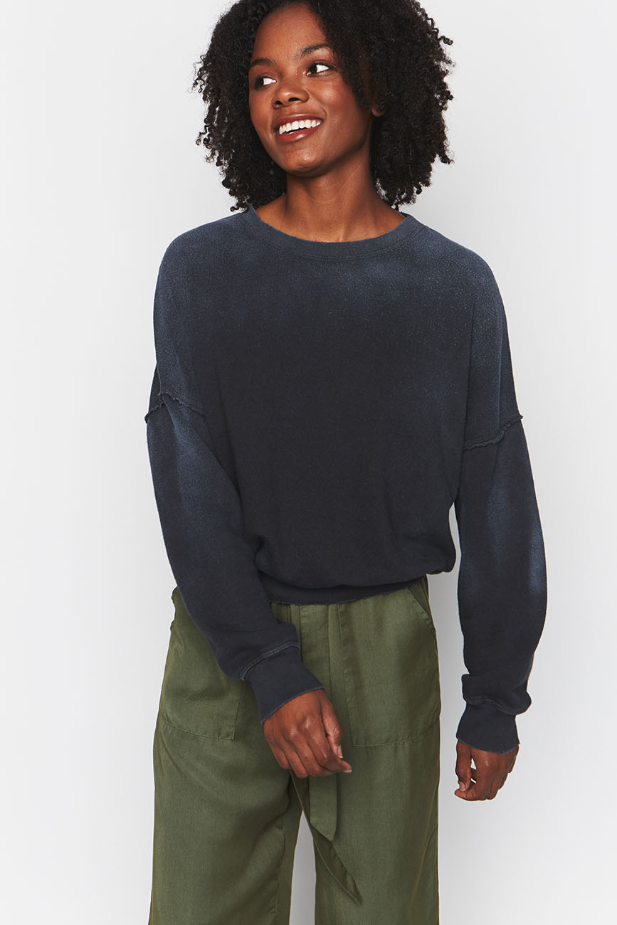 HEMP SWEATSHIRT BLACK 1