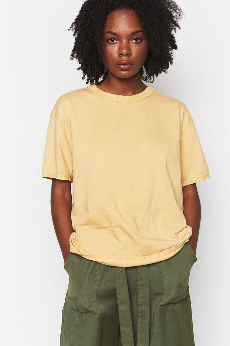 YELLOW ORGANIC COTTON TEE 1