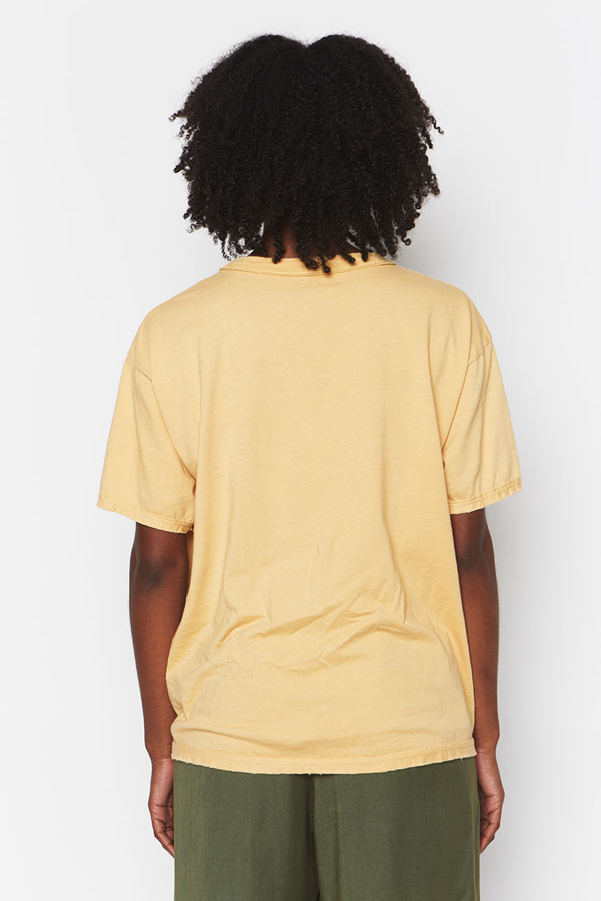 YELLOW ORGANIC COTTON TEE