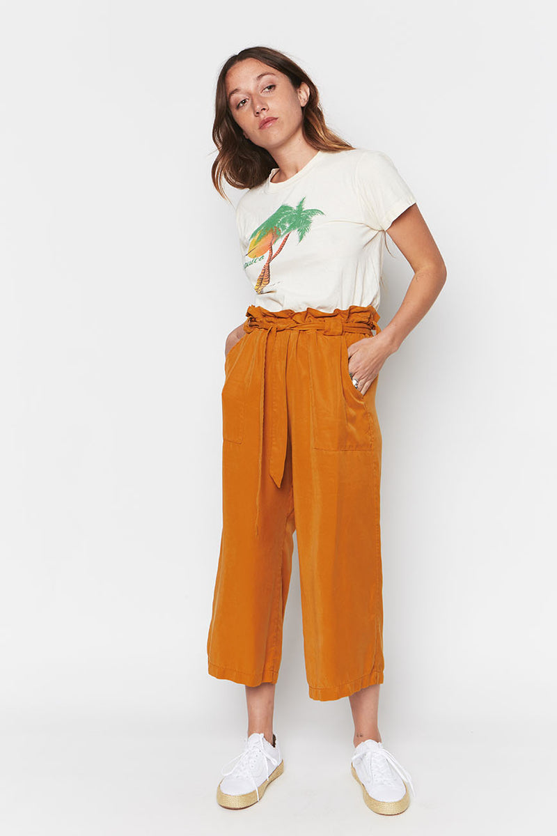 Ochre tencel pants 4
