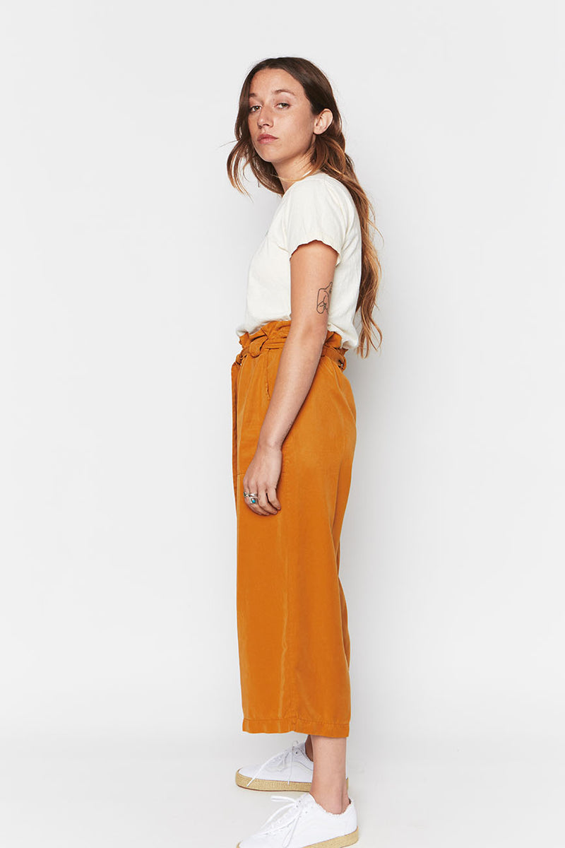 Ochre tencel pants 2